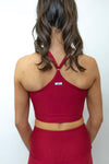 April Sports Bra - Pink/Black