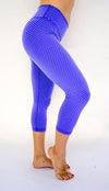 Honeycomb Reversible Capri - Periwinkle Blue