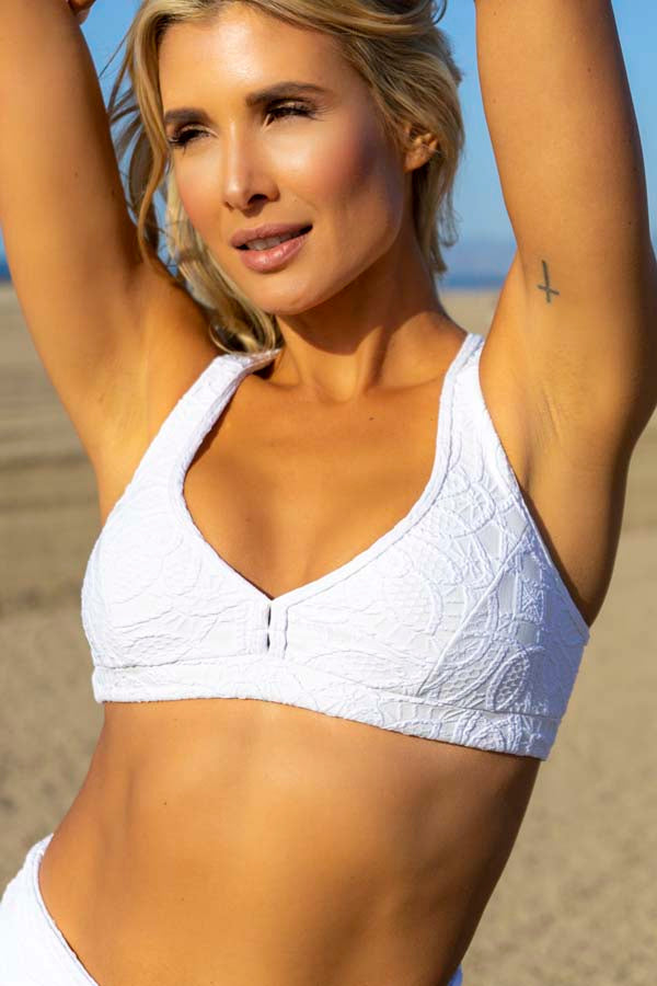 Andrea Sports Bra - White