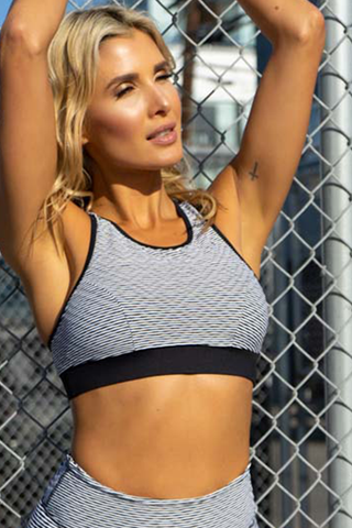 Morgan Sports Bra - Navy