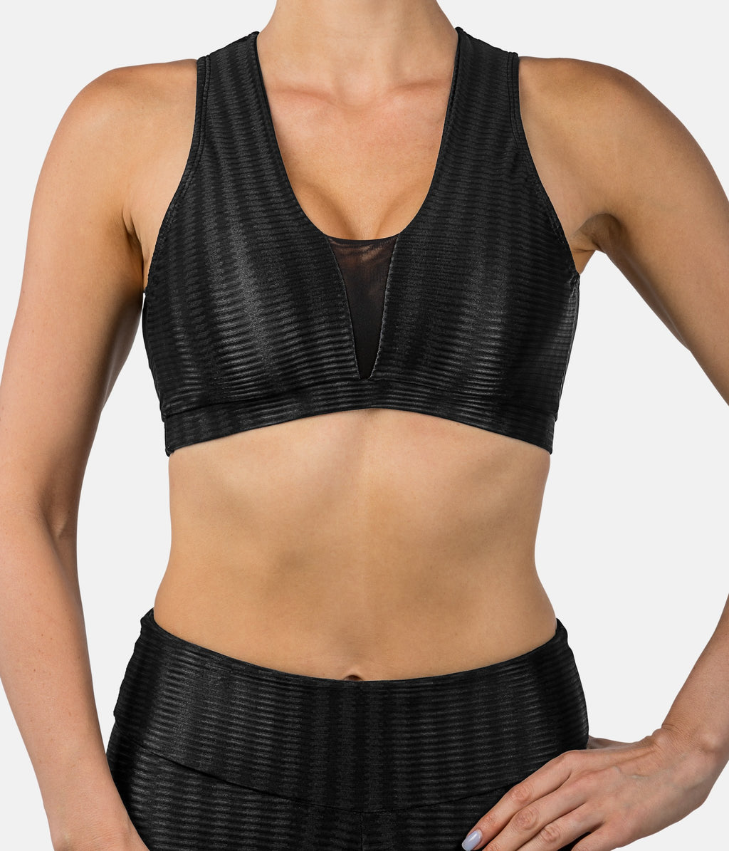 JoJo Bra - Mika Black-Sports Bra-coco on the go