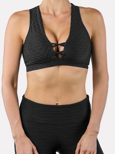 Lori Bra - Mermaid Black-Sports Bra-coco on the go
