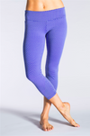 Honeycomb Reversible Capri-Leggings-coco on the go