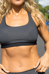 FANDI - Pocket Sports Bra  Black/white