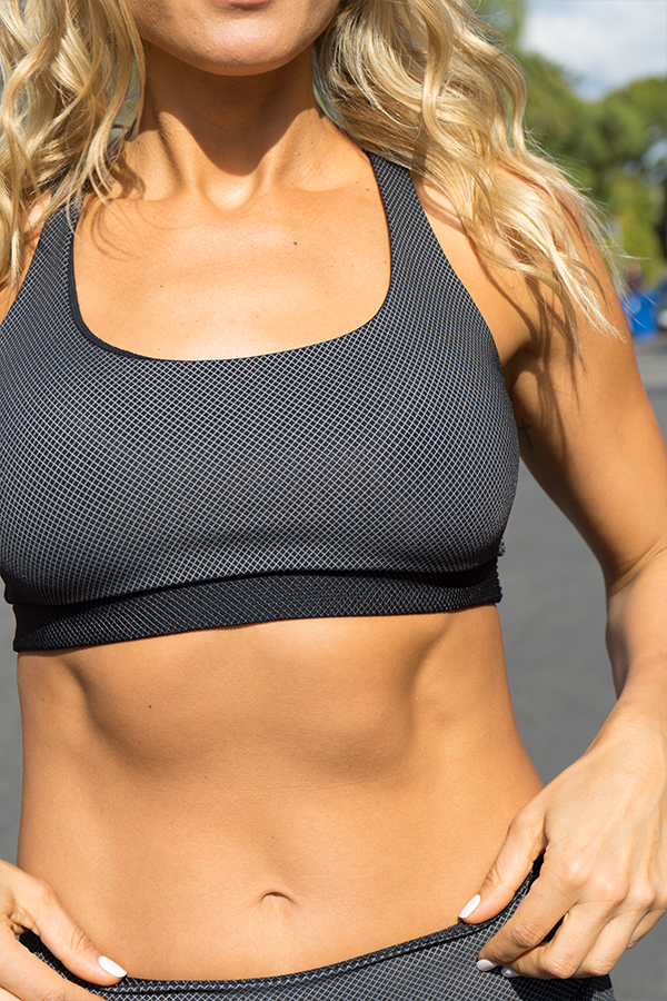 Charlie Sports Bra-Black/Grey