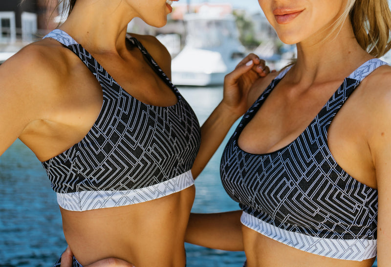 April Sports Bra - Black/White