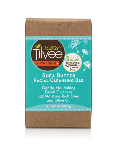 Shea Butter Facial Cleansing Bar for all skin types. Soothing, nourishing.