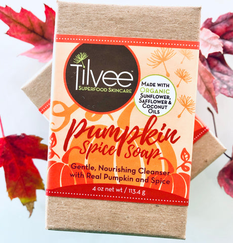 Pumpkin Spice Soap - 85% organic - Made with real pumpkin and spices.
