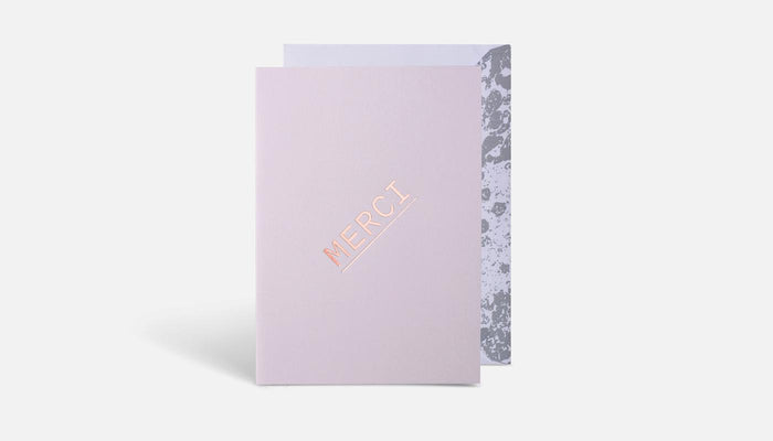 MERCI ON BLUSH CARD