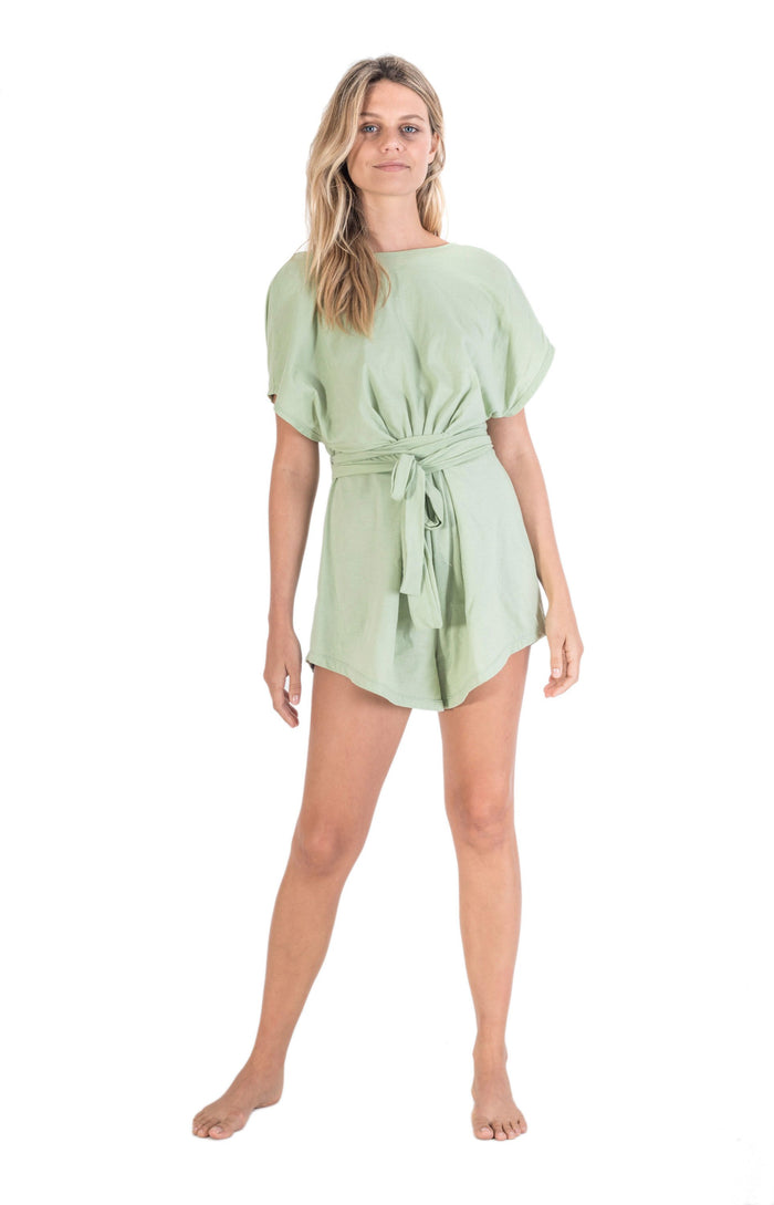 Odyssey Cotton Playsuit Mint Green