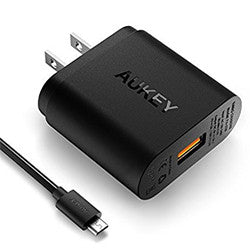 Quick Charge 2.0 AUKEY Android Wall Charger with Micro-USB Cable