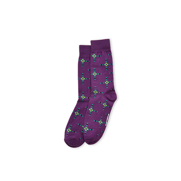 Richer Poorer Socks - Native Purple - Mens