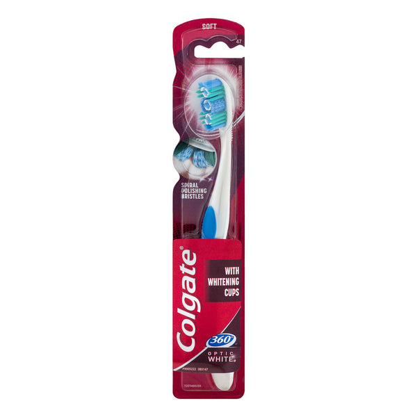 Colgate 360 Optic White Toothbrush-Soft
