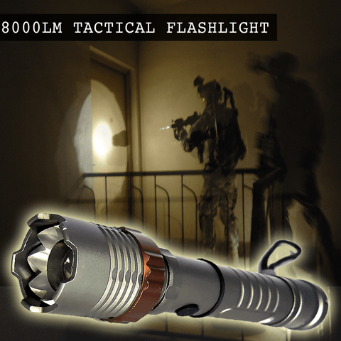 8000 Lumen Tactical Army Flashlight At a 75% Discount