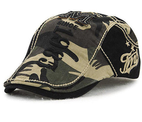 Newsboy Camo Hat (One Size Fits All)