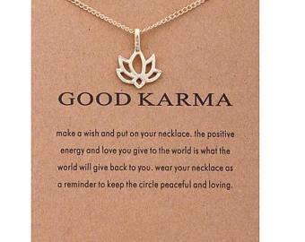 Good Karma Lotus Gold Dipped Necklace