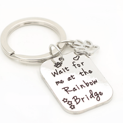 """Wait for Me at Rainbow Bridge"" Keychain & Necklace"