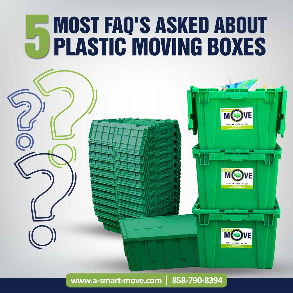 5 FAQ's about Plastic Moving Boxes