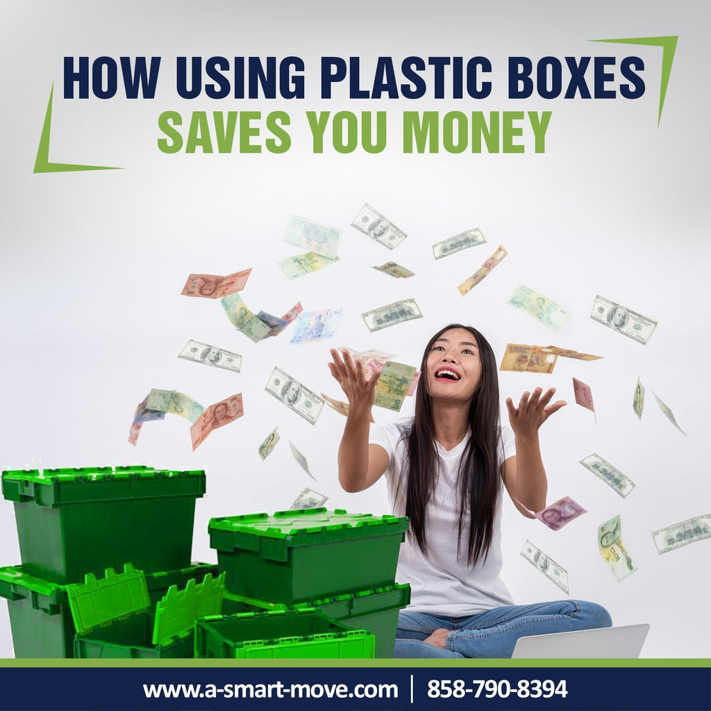 How Using Plastic Boxes Vs. Cardboard Boxes Saves You Money