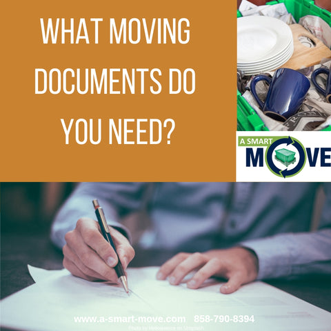 A Smart Move latest blog shows you what documents you need for moving