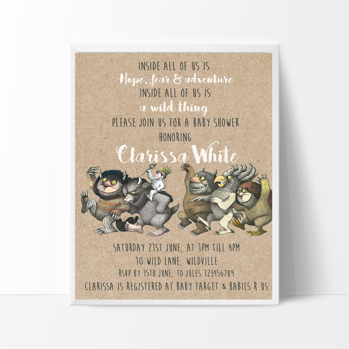 Where Wild Things Are Baby Shower Invitation Creative Shores