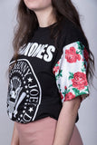 Rose Ramones Sleeve Top