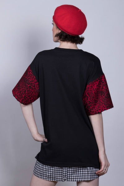 Rolling Stones Red Leopard Top