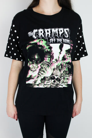Cramps Polka Dot Sleeve Tee