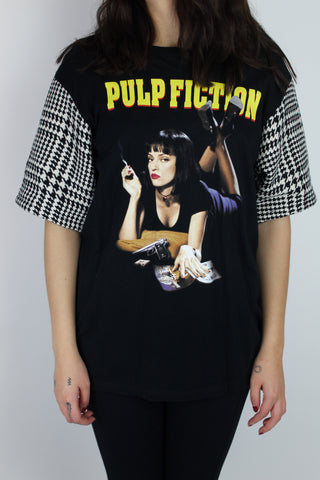 Pulp Fiction Houndstooth Sleeve Tee