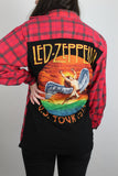 Led Zeppelin Band Tee Flannel