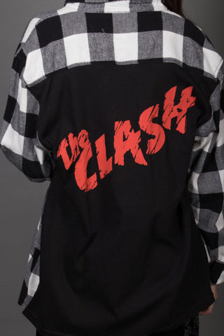 The Clash Band Tee Flannel