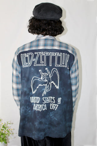 Led Zeppelin Baby Blue Flannel Tee