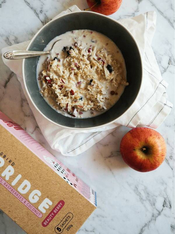 Beauty Berry & Apple Overnight Oats