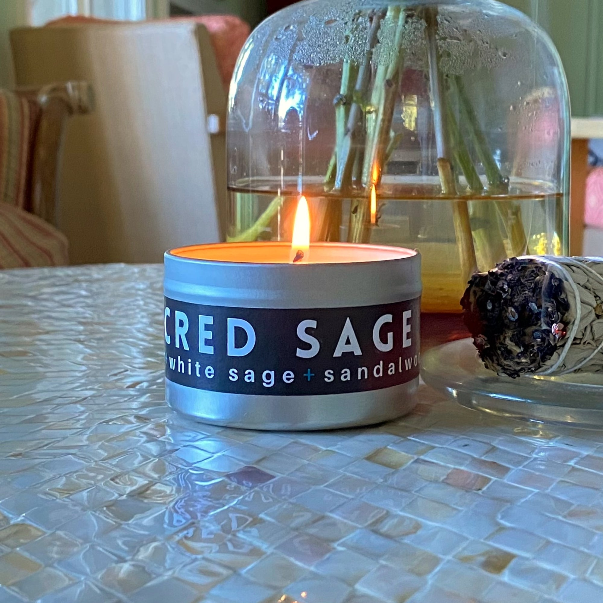 Sacred Sage Travel Candle