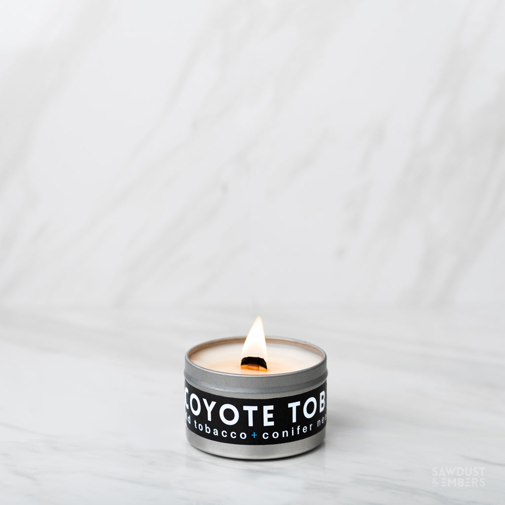 Coyote Tobacco Travel Candle - Sawdust & Embers