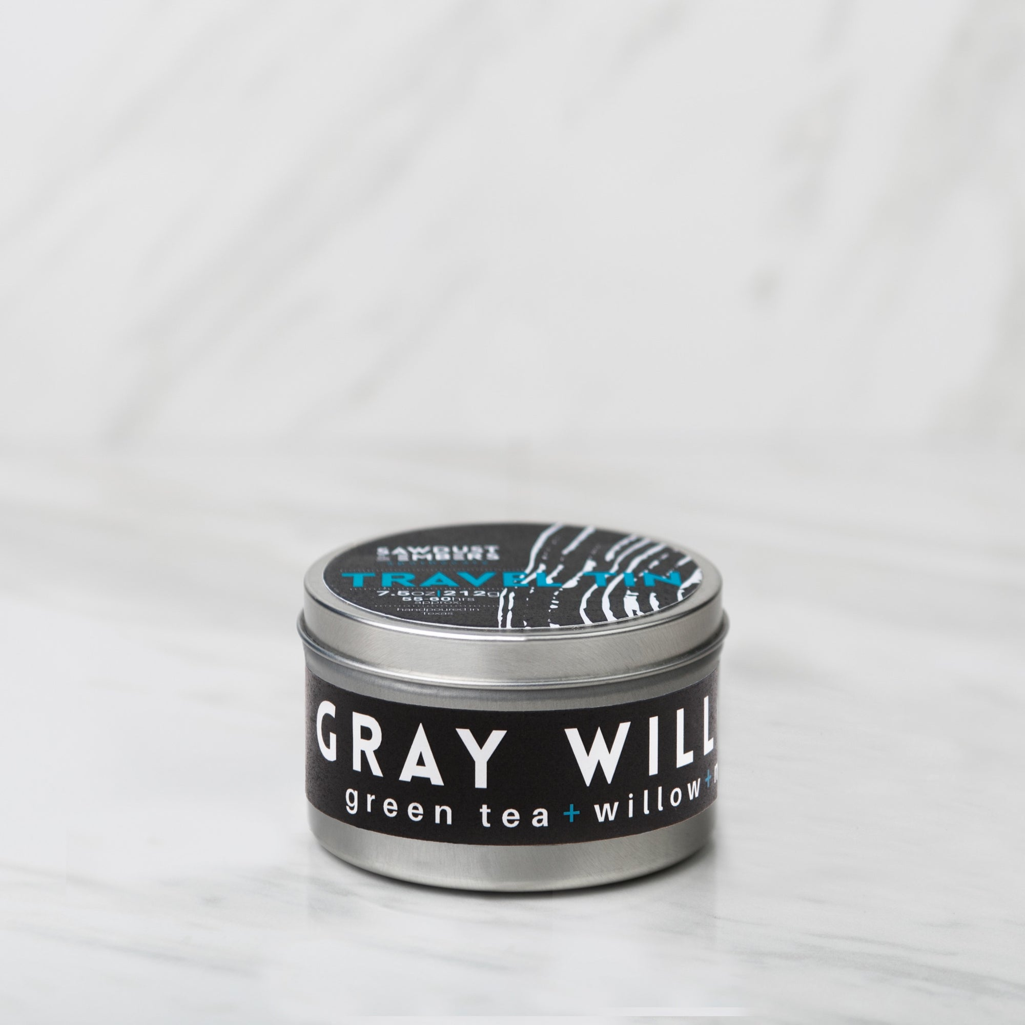 Gray Willow Travel Candle