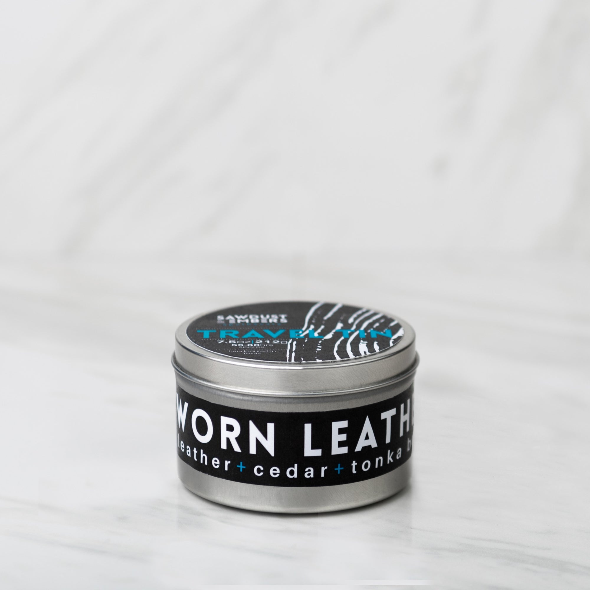 Worn Leather Travel Candle