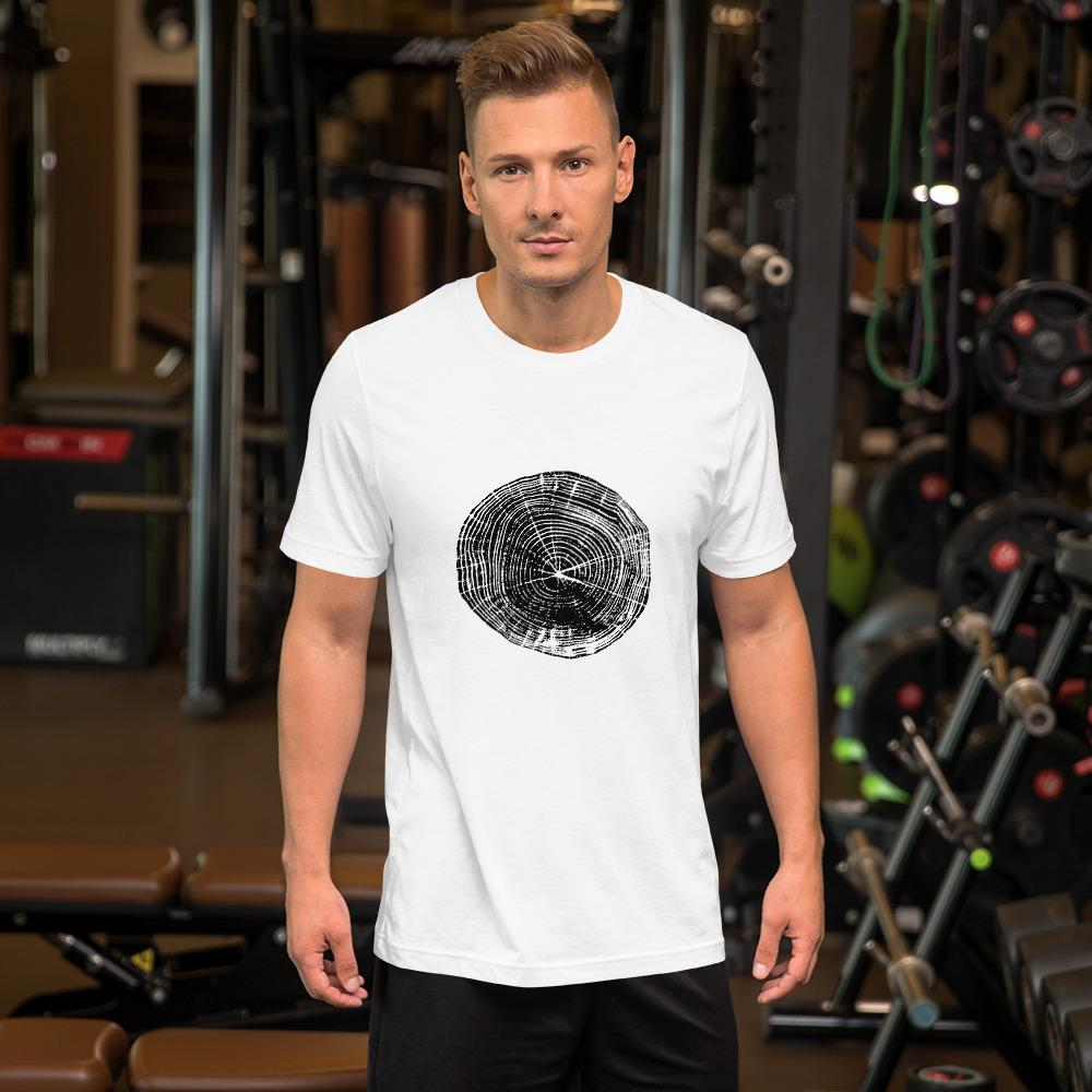 Tree Rings 1 Short-Sleeve Unisex T-Shirt - Sawdust & Embers
