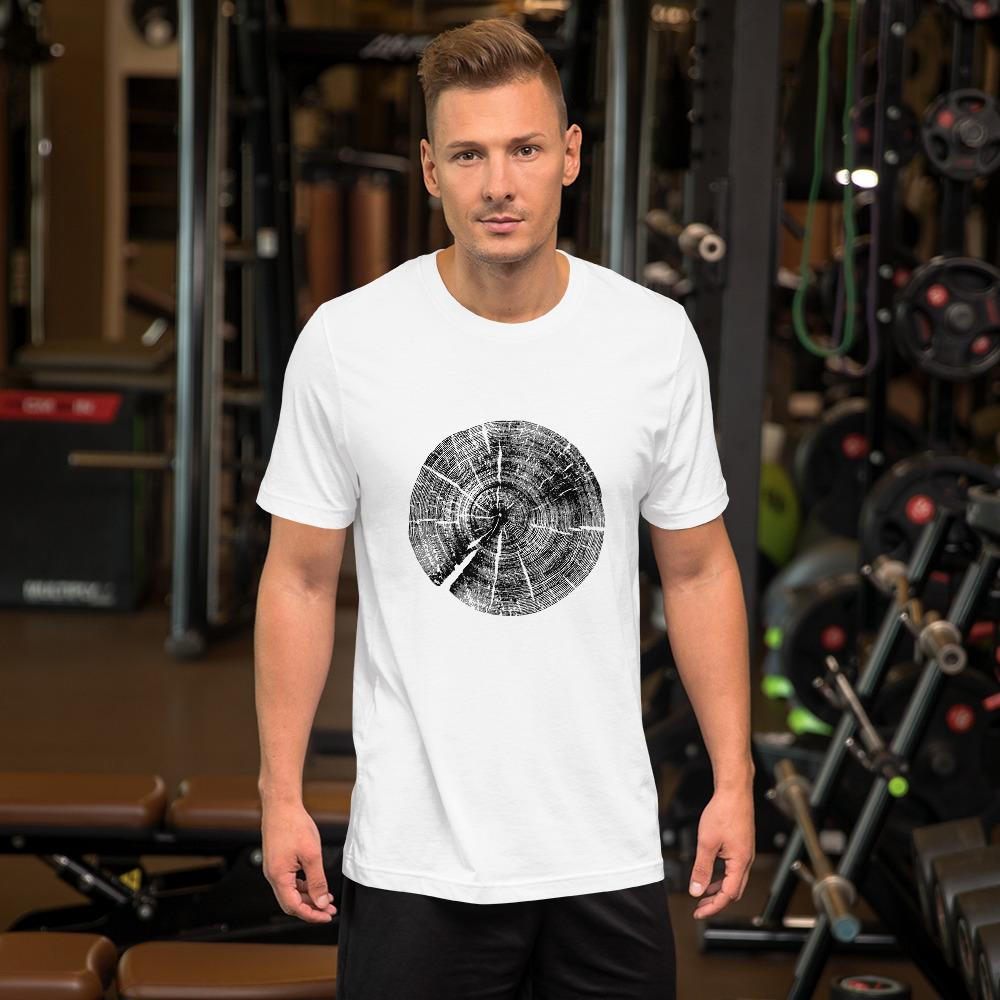 Tree Rings 2 Short-Sleeve Unisex T-Shirt - Sawdust & Embers