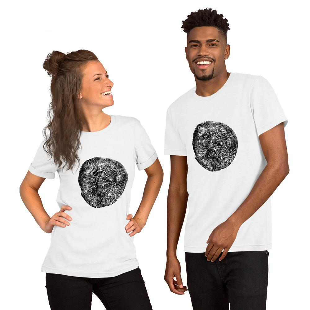 Tree Rings 3 Short-Sleeve Unisex T-Shirt - Sawdust & Embers
