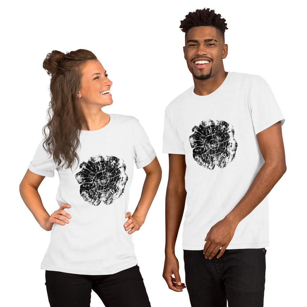 Tree Rings 4 Short-Sleeve Unisex T-Shirt - Sawdust & Embers