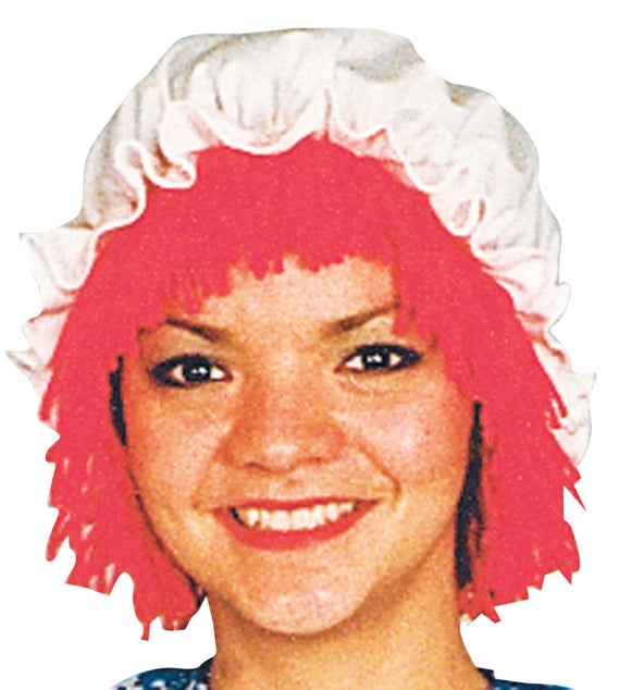 RAGGEDY ANN WIG WITH HAT
