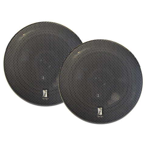 "PolyPlanar MA8505B 5"" 3-Way Titanium Series Marine Speakers - (Pair) Black"