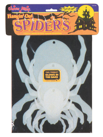 SPIDERS GLOW HANGING