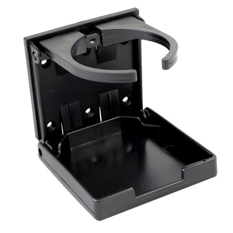 Innovative Lighting Adjustable Fold-Down Cup Holder - No Hardware - Black