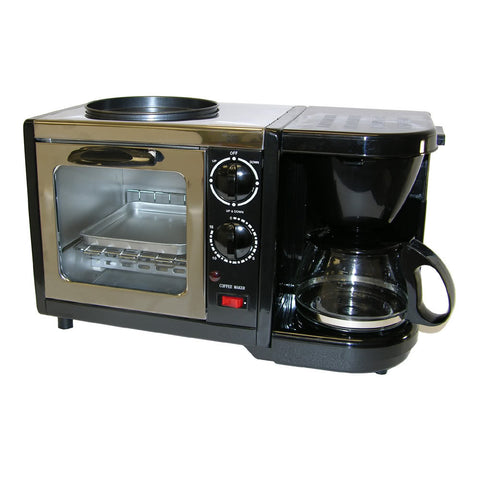 Sunpentown 3-in-1 Breakfast Maker (Toaster Oven,Coffee Maker,Frying Pan) BM-1107