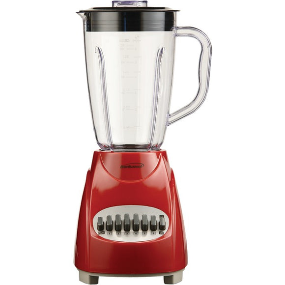 BRENTWOOD JB-220R 12-Speed Blender with Plastic Jar (Red)
