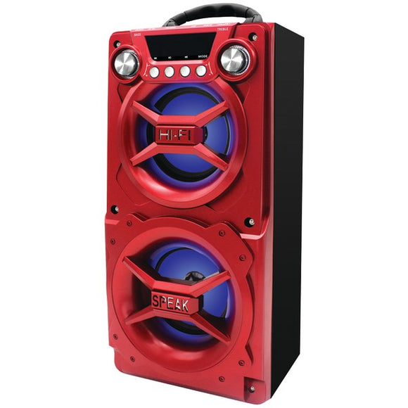 SYLVANIA SP328-RED Bluetooth(R) Speaker with Speakerphone (Red)