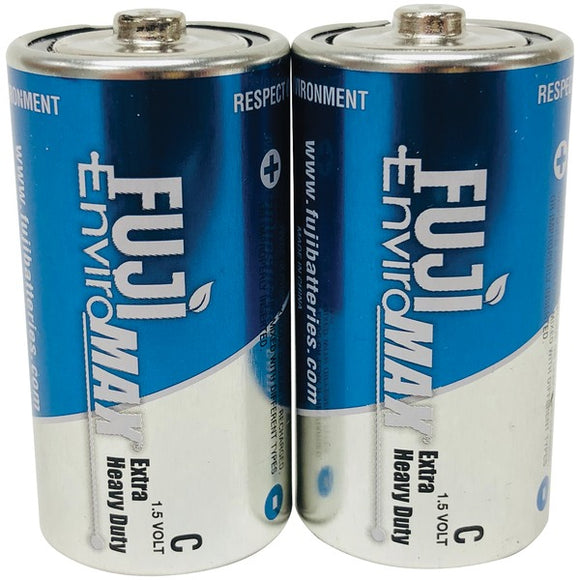 Fuji Batteries 3200BP2 EnviroMax C Extra Heavy-Duty Batteries, 2 pk