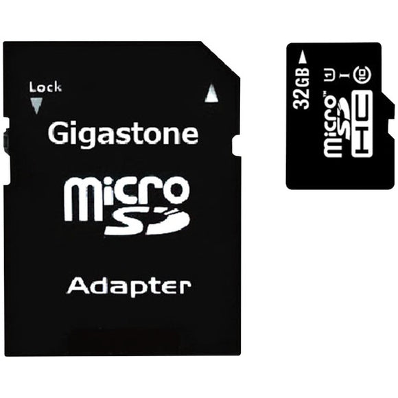 Gigastone  GS-2IN1600X32GB-R Prime Series microSD  Card with Adapter (32GB)